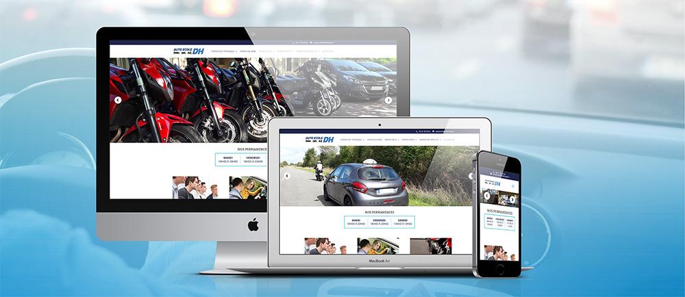 Un nouveau site pour l'auto-école DH