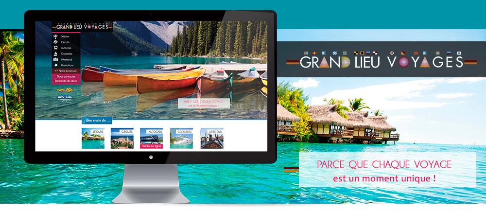 Nouveau site Internet pour Grand Lieu Voyages