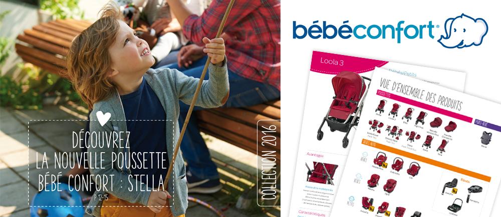Création et mise en page du catalogue Bébé Confort