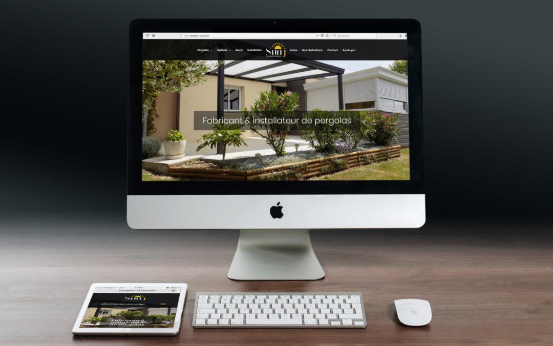 Un site et un logo pour les Pergolas Sunj