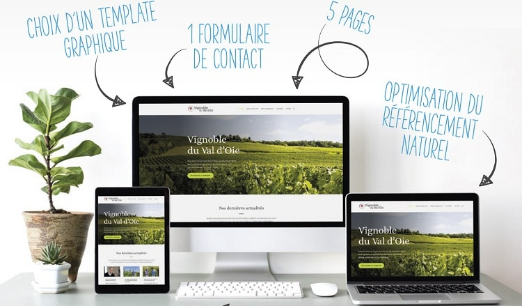 site web pour viticulteur