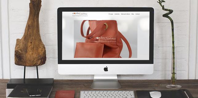 Site e-commerce dans la maroquinerie