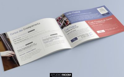 Une brochure moderne pour l'école de musique Loire Divatte