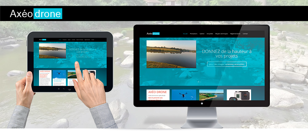 axéo drone, site internet responsive en Wordpress