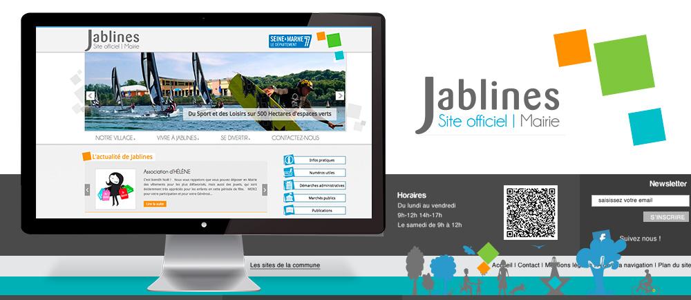 site internet responsive de la mairie de Jablines 77