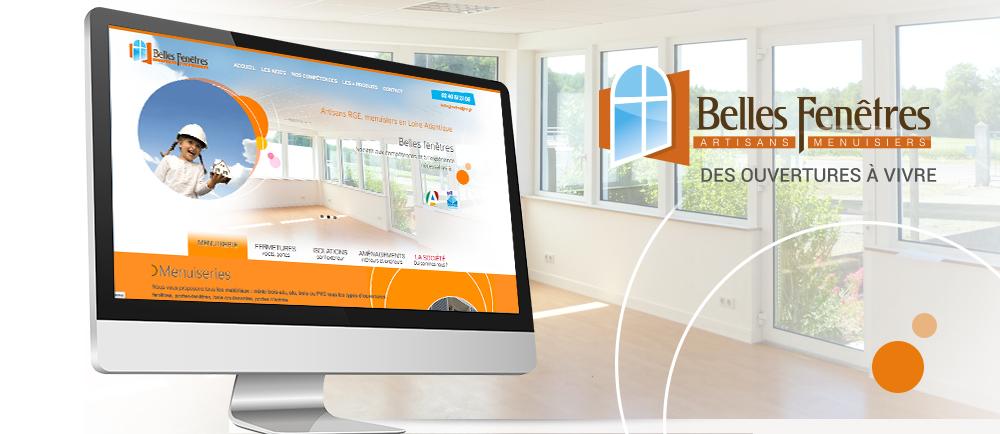 Création d'un nouveau site pour Belles Fenêtres près de Nantes (44)