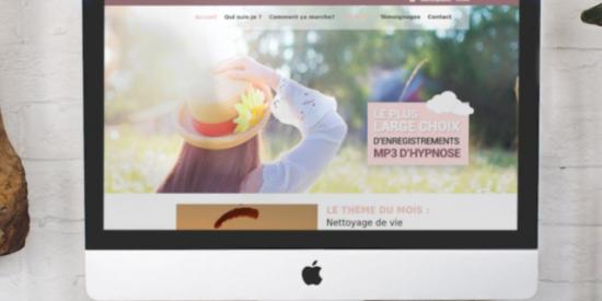 Un site web e-commerce tout en sérénité pour Camille Griselin