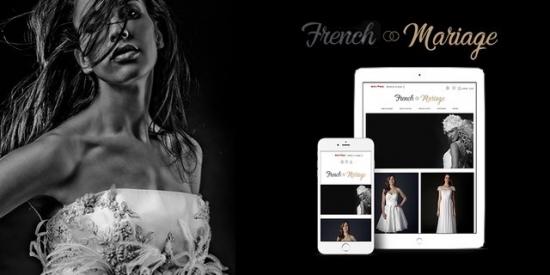 Un site e-commerce épuré et chic pour French Mariage
