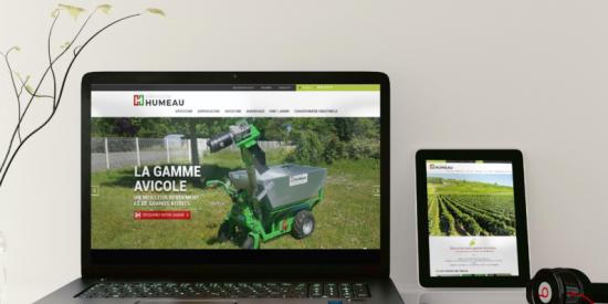 Un web design plus actuel pour Constructions Humeau