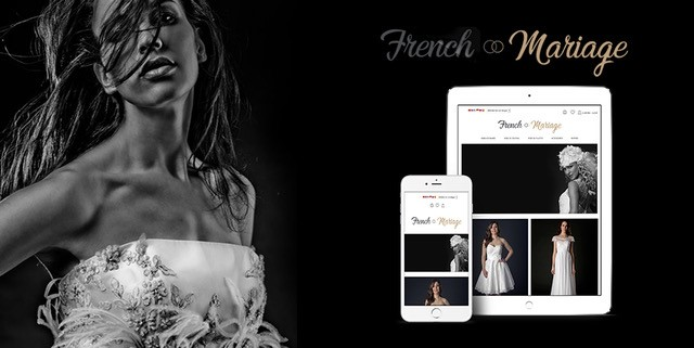 Site e-commerce pour French Mariage