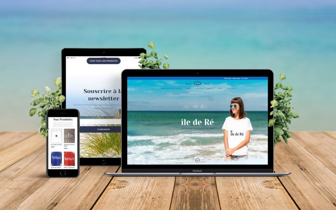 Un site web avec un air de vacances
