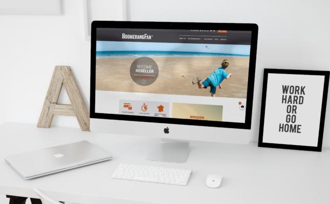 Un site e-commerce pour Boomerang Fan