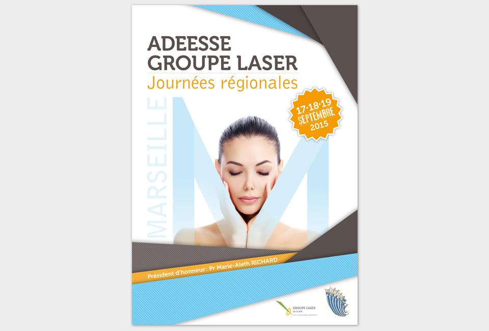 flyer et brochure groupe laser