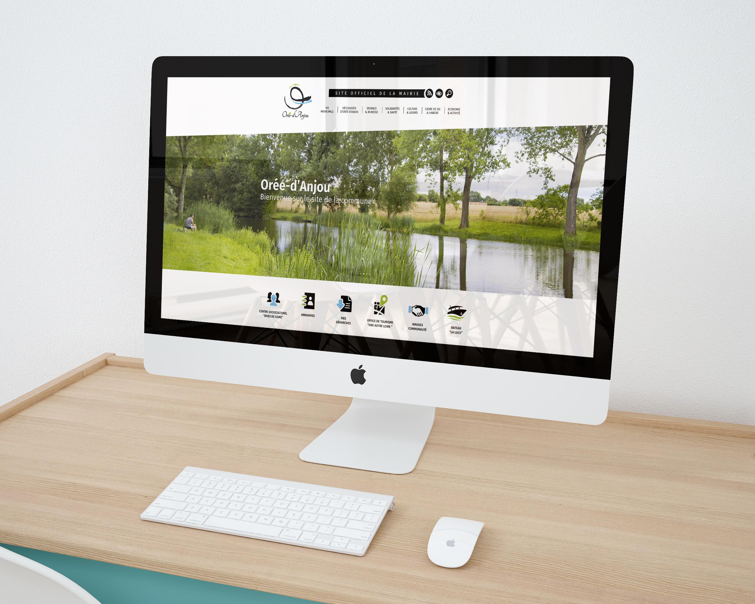 Création du site Internet d'Orée d'Anjou (49)