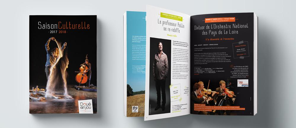 Création brochure saison culturelle Doué-en-Anjou