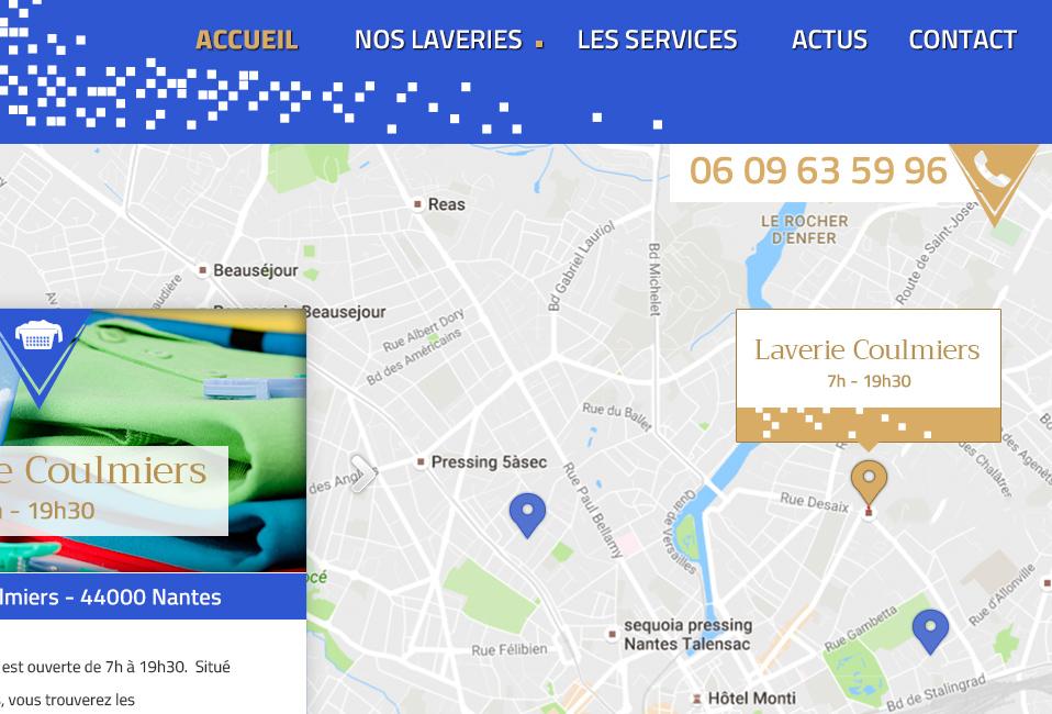 Un site Responsive pour Les Laveries Atlantique Ouest